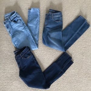 3 Pairs Old Navy Mid-Rise Super Skinny Jeans - 2R